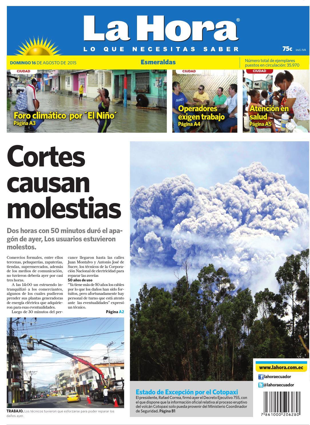 Esmeraldas 16 de agosto del 2015 by Diario La Hora Ecuador - issuu