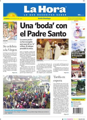 db9ea68ac3 Santo Domingo 16 de agosto del 2015 by Diario La Hora Ecuador - issuu