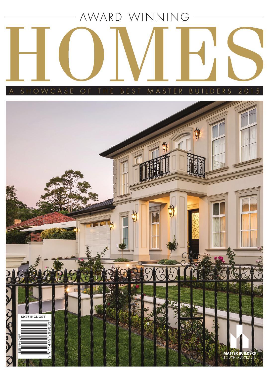 2015 master builders south australia award winning homes for Home builder magazine