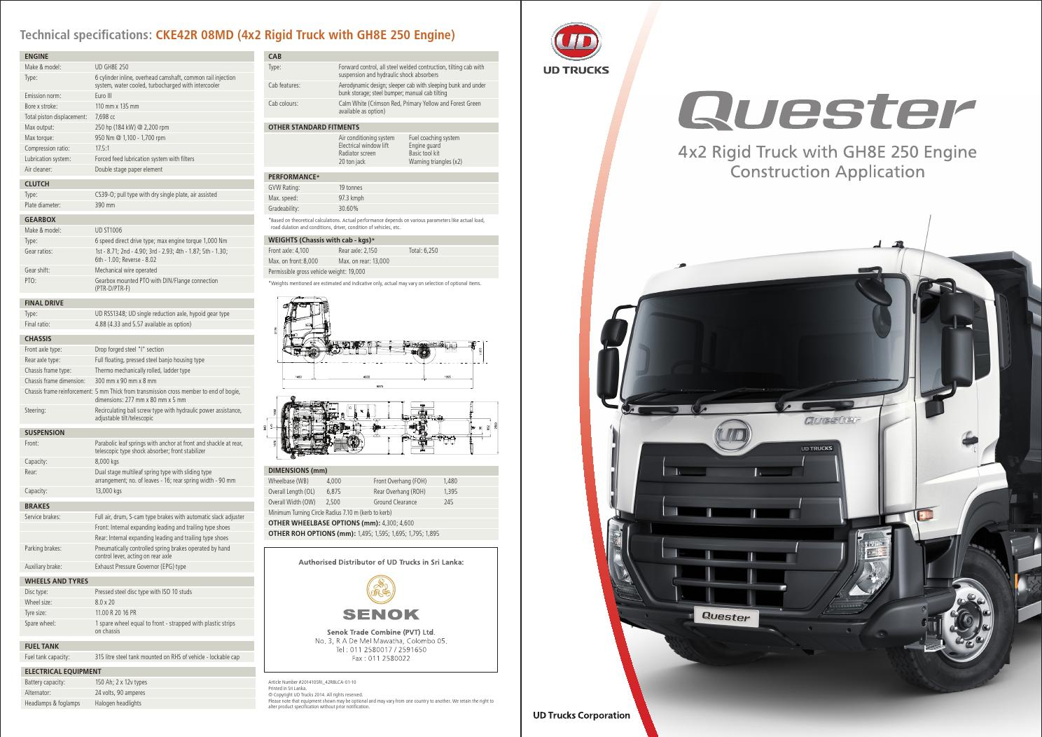 Quester Cke Mde8 Light Construction Specification Sheet By