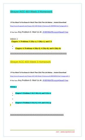 week 4 acc 403 Strayer-university acc-100 week discussions get help for strayer-university acc-100 we provide assignment,  strayer-university acc 403 assignment (1).