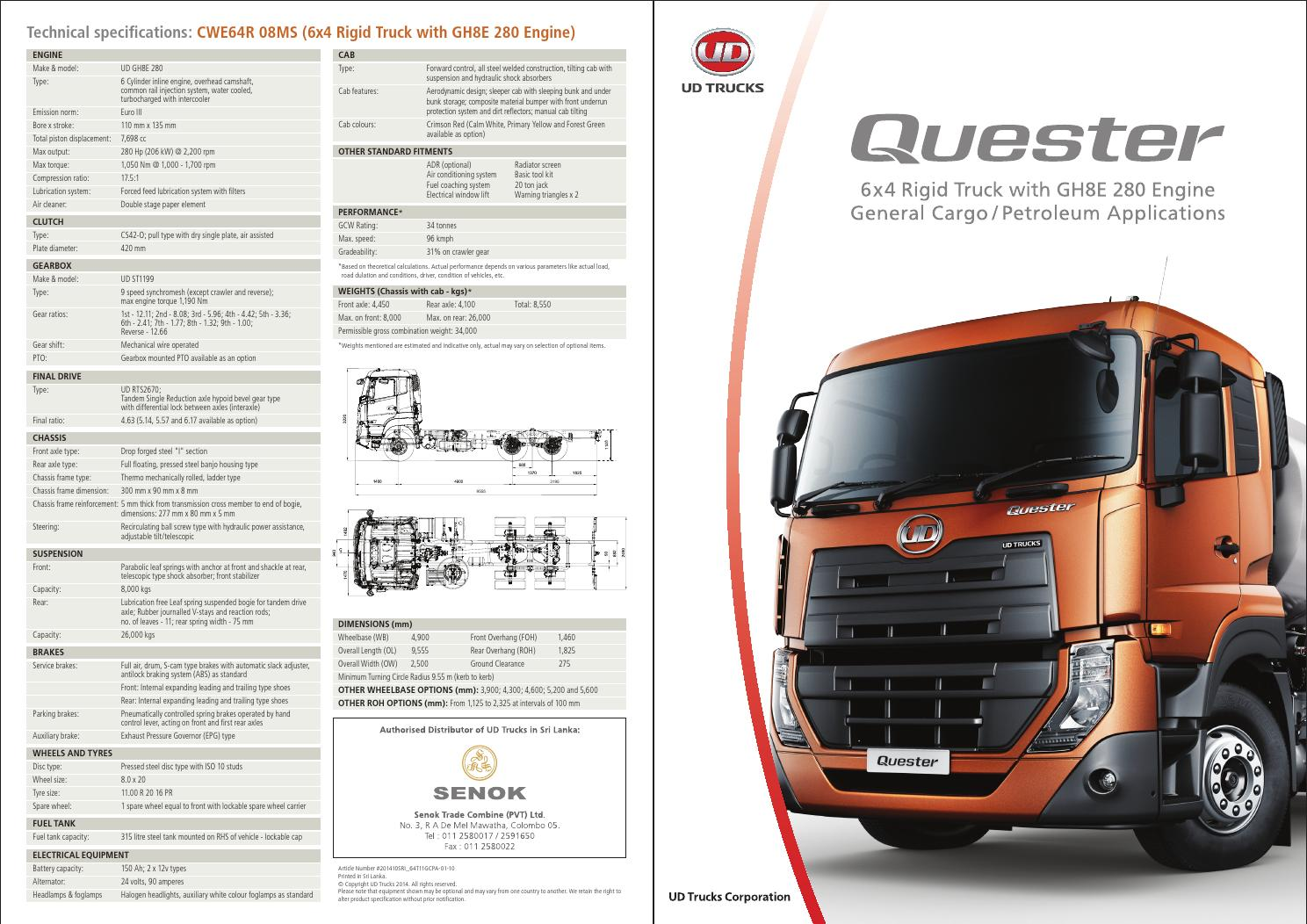 Quester Cwe Mde8 Cargo Petroleum Specification Sheet By Ud