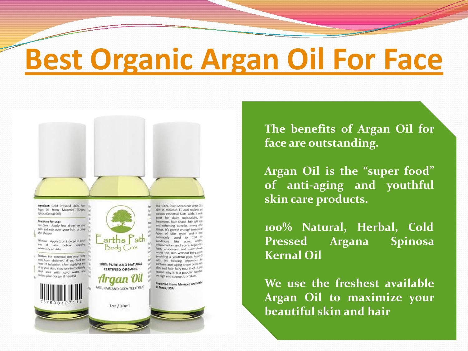 Argan Oil Benefits for Face