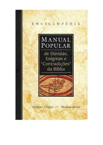 8e589f64b13 Manual popular de duvidas enigmas e contradicoes da biblia norman ...