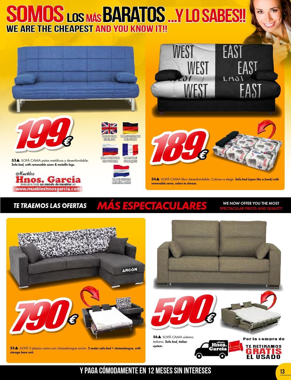 Folleto muebles hnos garc a somos los m s baratos y lo for Los sofas mas baratos