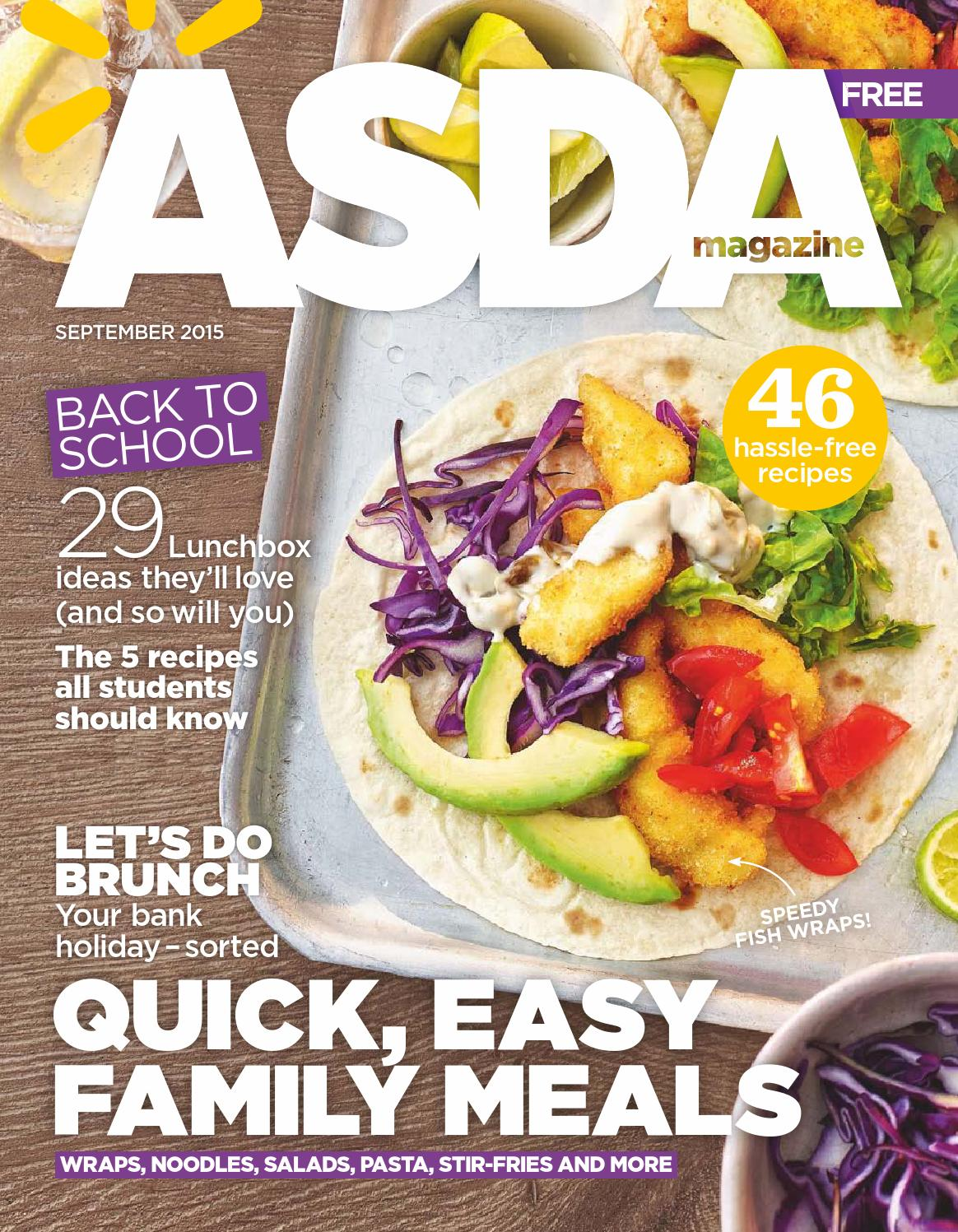 Asda Magazine September 2015 By Asda Issuu