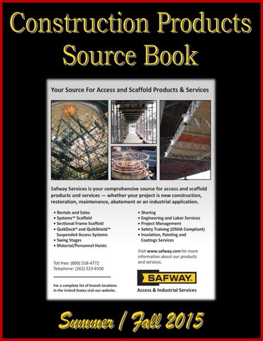 Construction Products Source Book By Federal Buyers Guide
