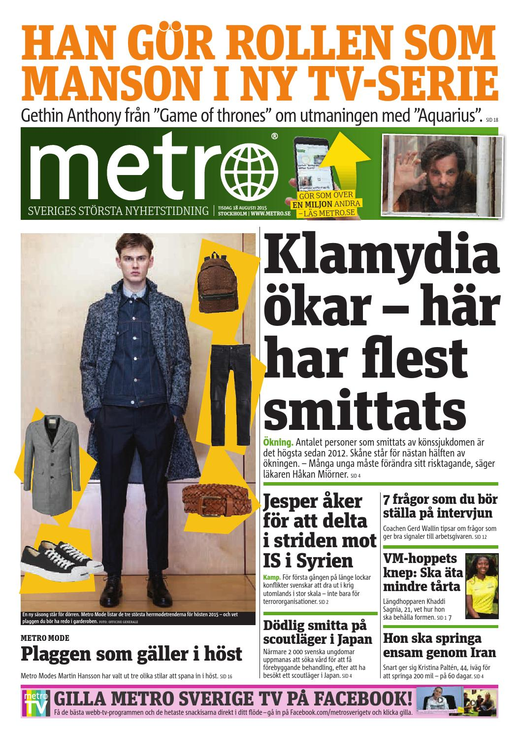 cheap for discount b799d 62fbc 20150818 se stockholm by Metro Sweden - issuu