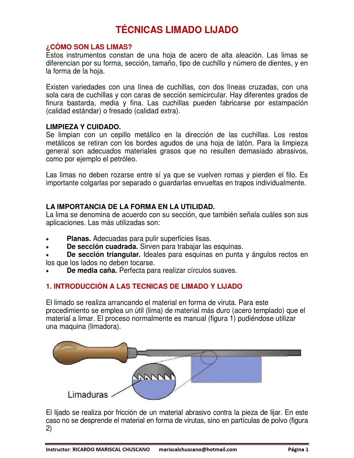 02 técnicas limado lijado by Ricardo Mariscal - issuu