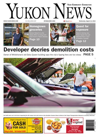 Yukon News, August 12, 2015 by Black Press Media Group - issuu