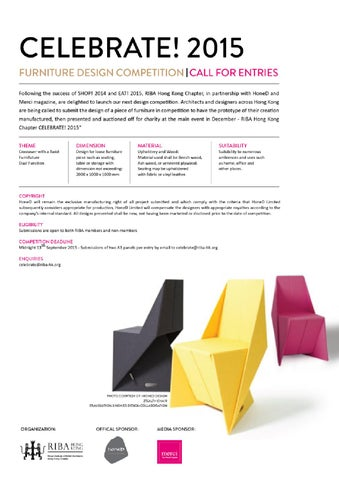 Riba X Honed X Merci Furniture Design Competition Brief By Merci