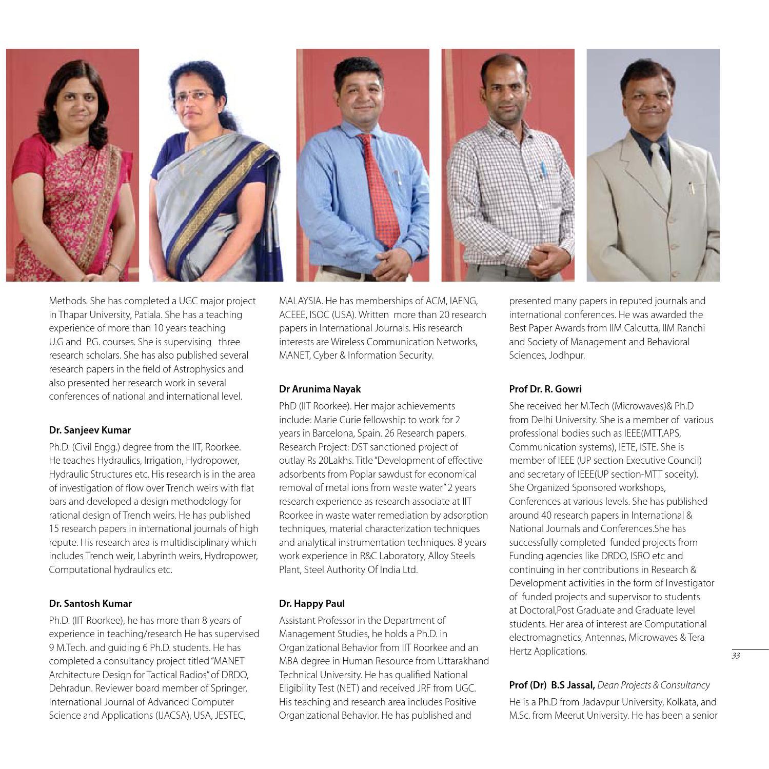Graphic Era University - Prospectus 2015 by Ajay Mehta - issuu