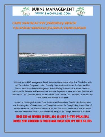 Cape San Blas Pet Friendly Beach Vacations By Twopalms Issuu