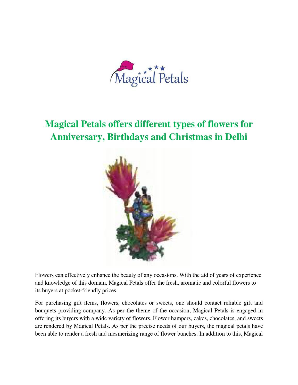 Magical petals offers different types of flowers for anniversary magical petals offers different types of flowers for anniversary birthdays and christmas in delhi by magicalpetals issuu izmirmasajfo