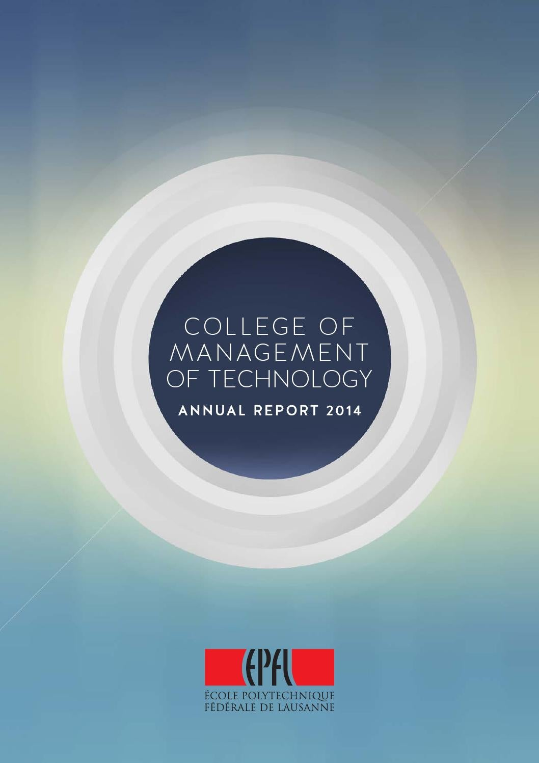 Page 1 af sinergia 42 en - Cdm Annual Report 2014 By College Of Management Of Technology Epfl Issuu