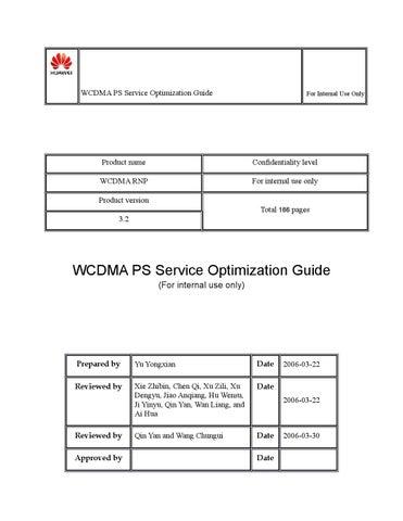 Wcdma ps service optimization guide by Emerson Eduardo
