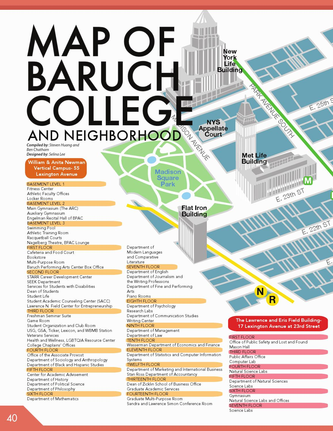 baruch college campus map Baruch Undergrad Student Survival Guide 15 16 By Usg Baruch Issuu baruch college campus map