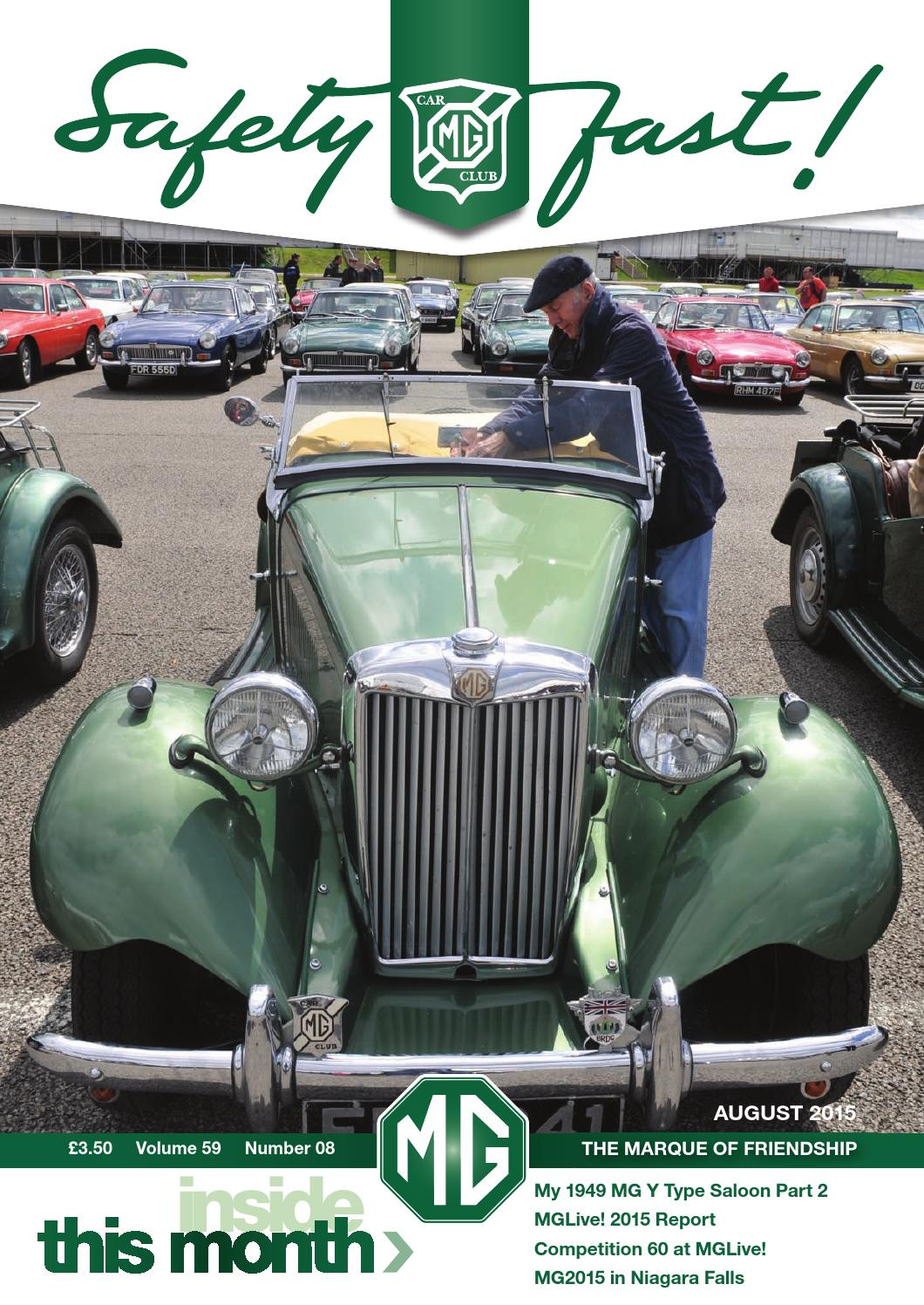 c7f55308518 Safety Fast! August 2015 by MG Car Club - issuu