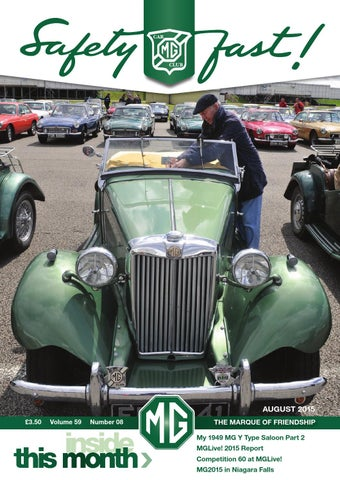 Safety fast august 2015 by mg car club issuu page 1 fandeluxe Gallery