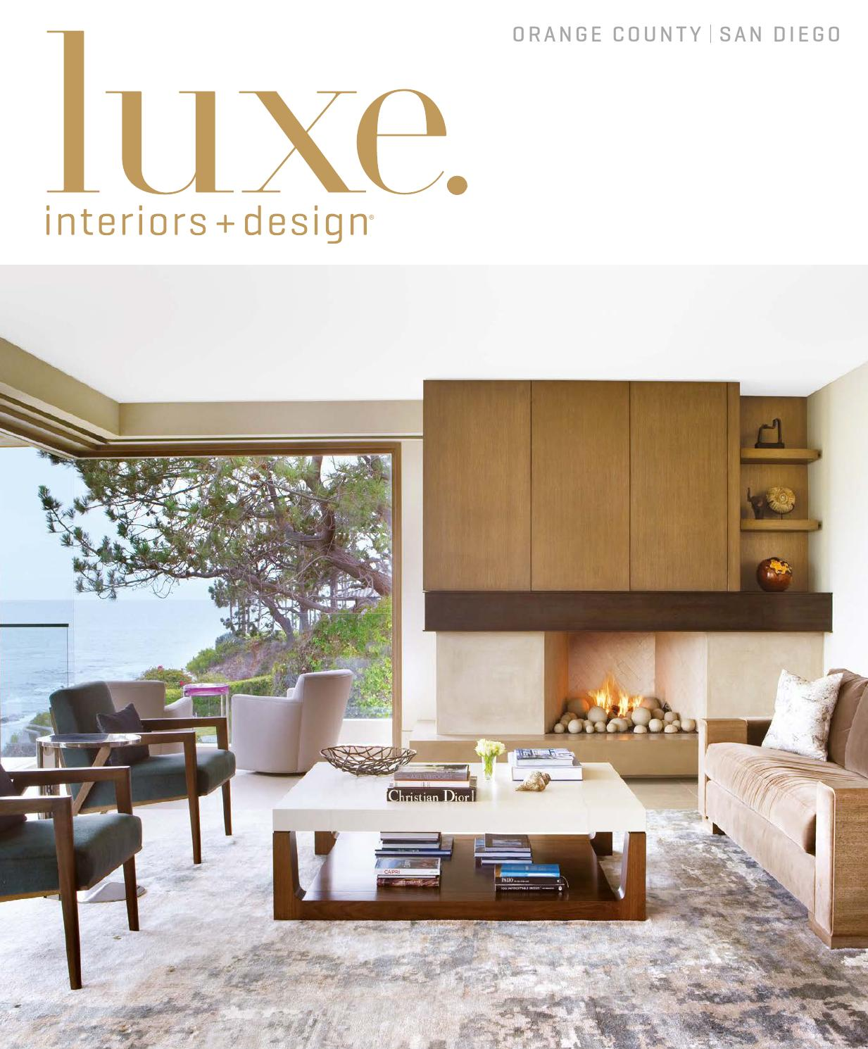 Luxe Magazine September 2015 Orange County San Diego By Sandow  # Muebles Saint Michel