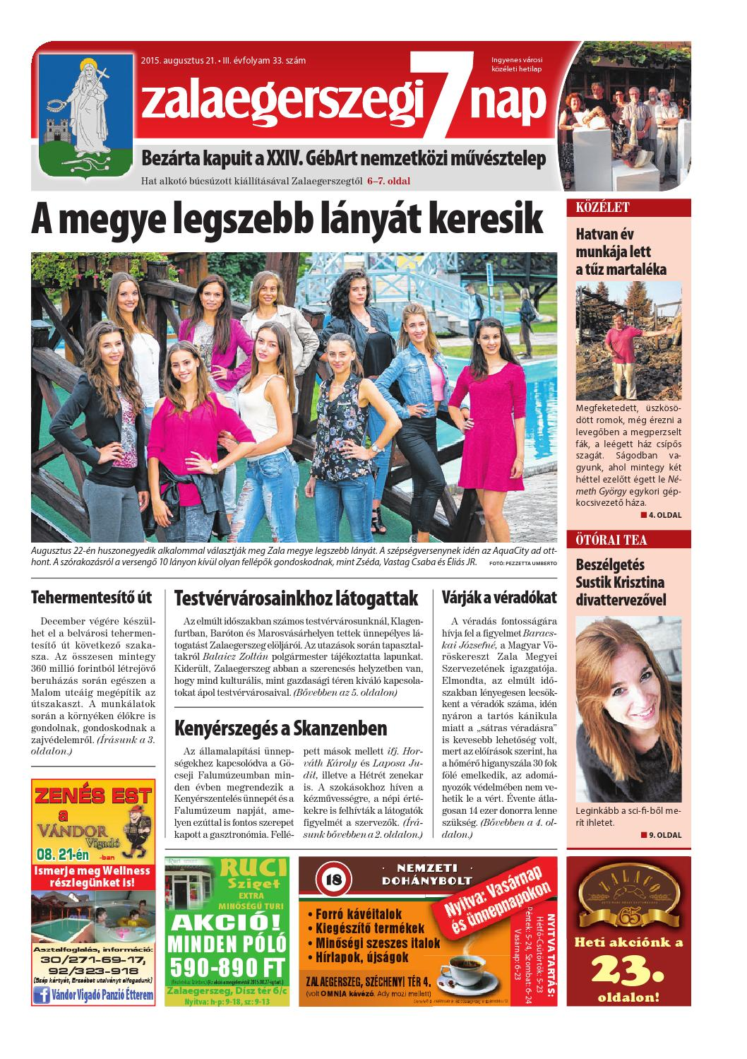 a140364556 Zalaegerszegi 7 Nap - 2015. 08. 21. by Maraton Lapcsoport Kft. - issuu