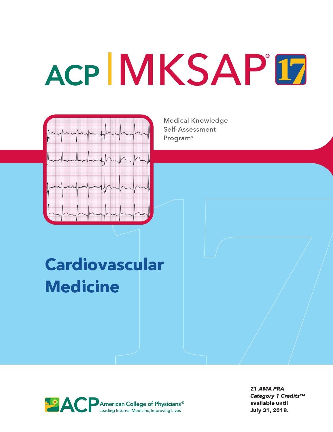 Mksap 17 Cardiovascular Medicine By American College Of Physicians