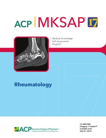 MKSAP 17 - Rheumatology by American College of Physicians