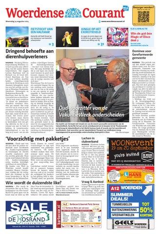 Van Geels Tuinmeubelen Woerden.Woerdense Courant Week34 By Wegener Issuu