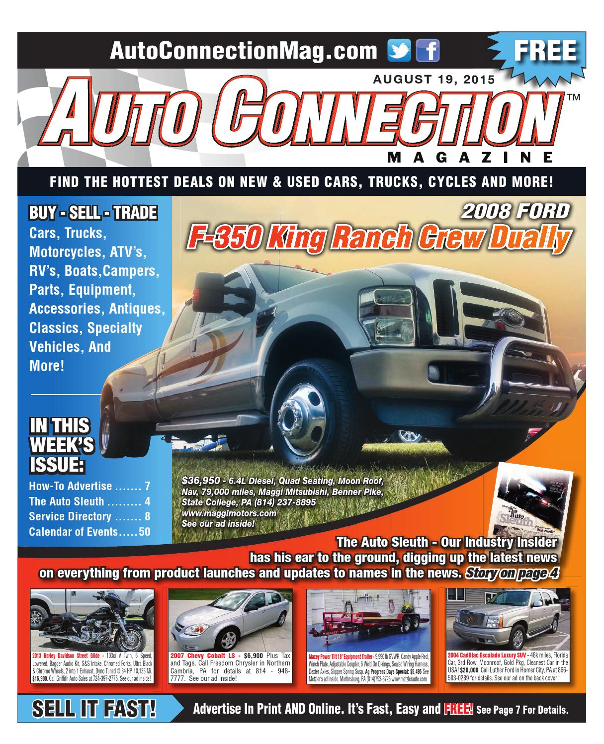 08 19 15 Auto Connection Magazine By Issuu 2007 Chevy Cobalt Wiring Harness
