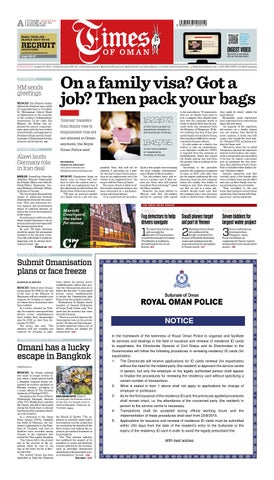 Times of Oman - August 19, 2015 by Muscat Media Group - issuu