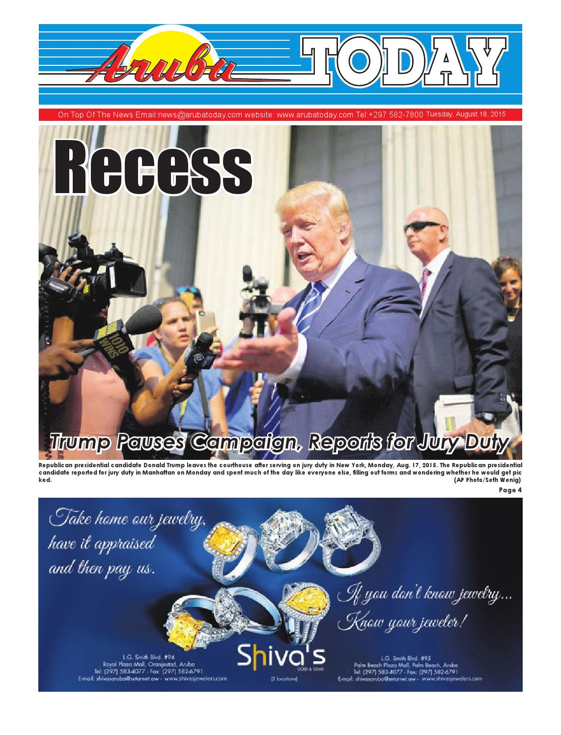 August 18, 2015 by Aruba Today - issuu
