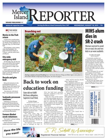 Mercer Island Reporter August 19 2015 By Sound