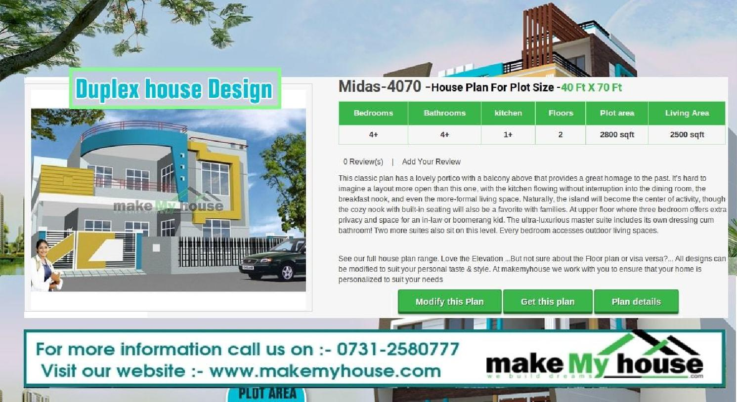 Duplex house design by Make My House by makemyhouse - issuu