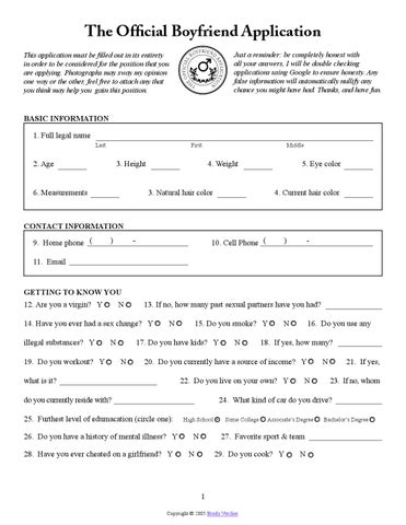 Official Boyfriend Application Form by Putera Katak Brunei - issuu