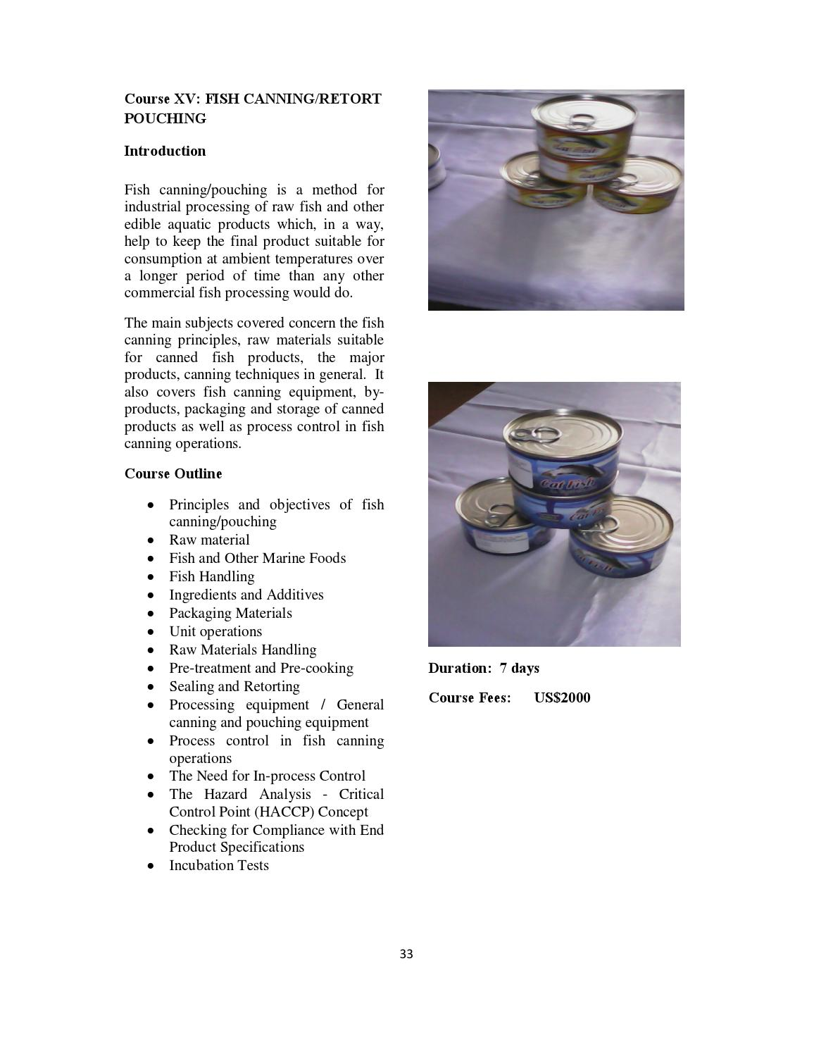TRAINING BROCHURE ON AQUACULTURE PRODUCTION by CORAF/WECARD