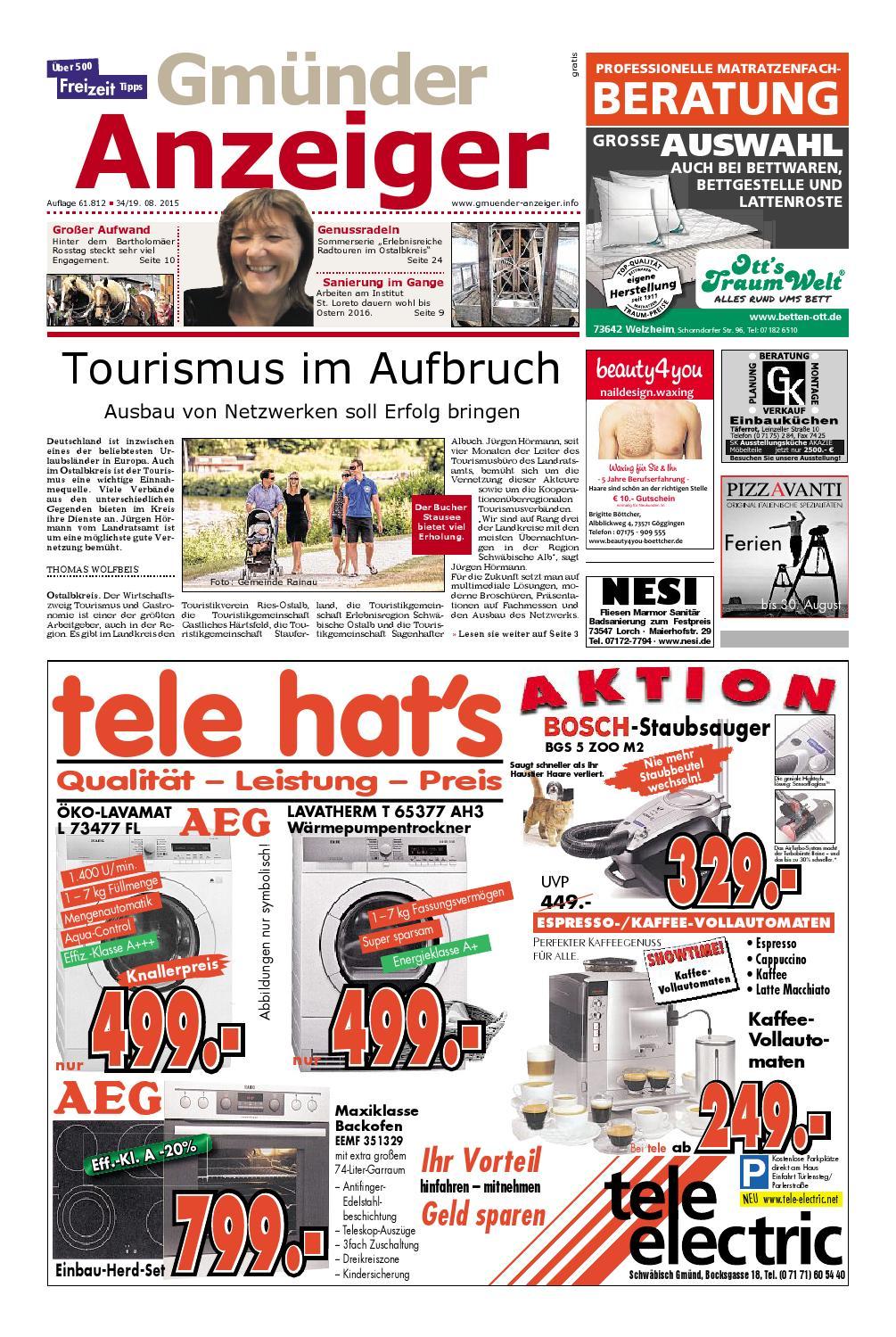7b82b585b42 Der Gmünder Anzeiger - KW 34 by Wolfram Daur - issuu