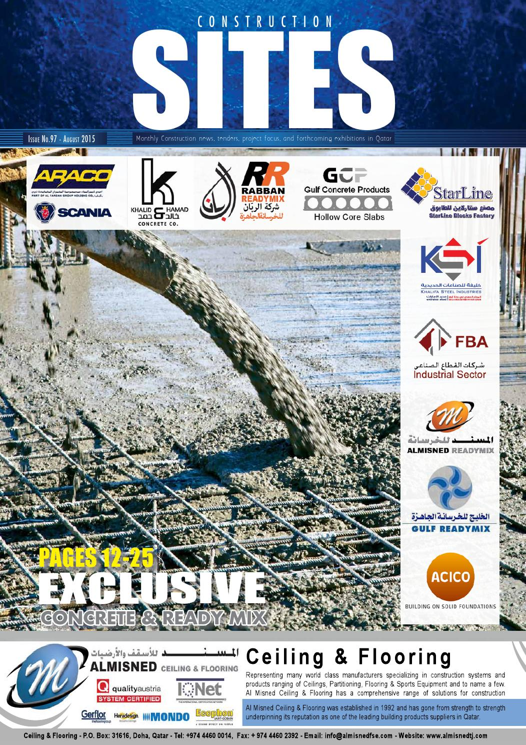 Construction Sites | August Issue no  97 by Qatar