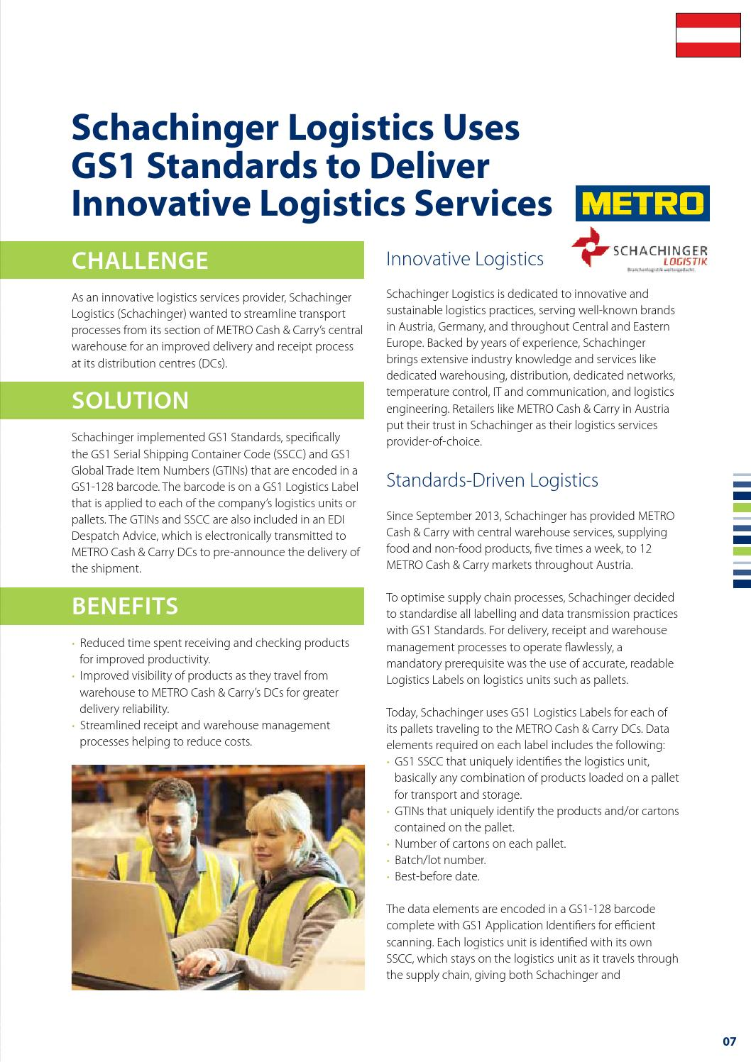 GS1 transport & logistics and customs reference book 2014/15