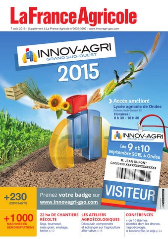 Catalogue INNOV-AGRI Grand Sud-Ouest 2015 by GFA EVENTS - issuu 96d4c470f61