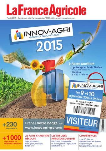 da3ad859a2a3 Catalogue INNOV-AGRI Grand Sud-Ouest 2015 by GFA EVENTS - issuu
