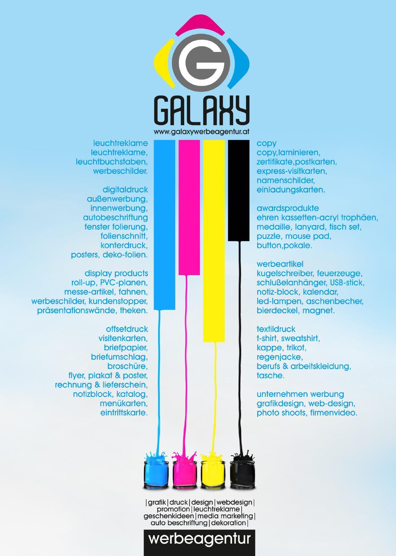 Galaxy Broschüre No 1 By Galaxy Werbeagentur Wien Issuu