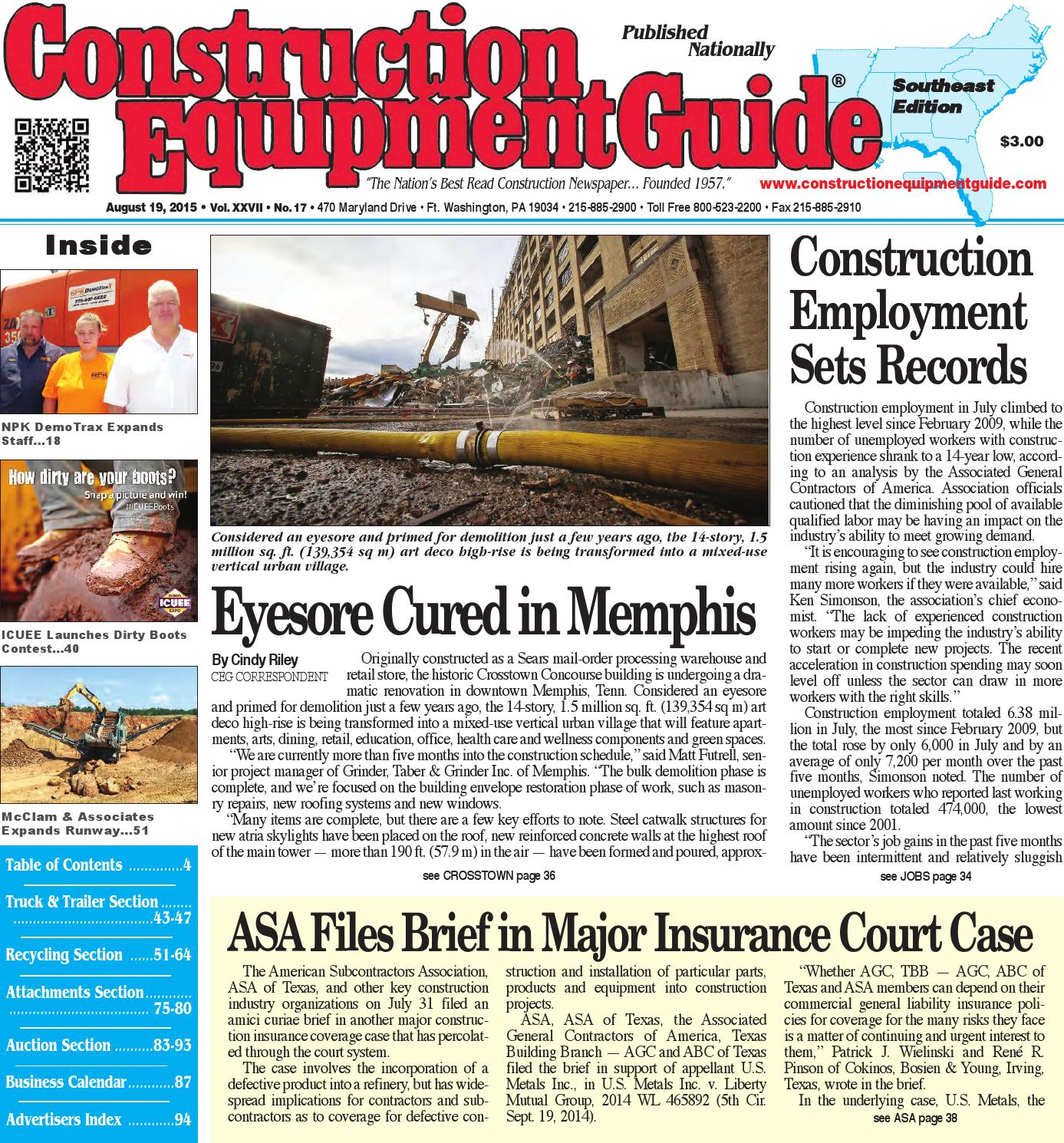 Southeast 11 May 19, 2017 by Construction Equipment Guide - issuu