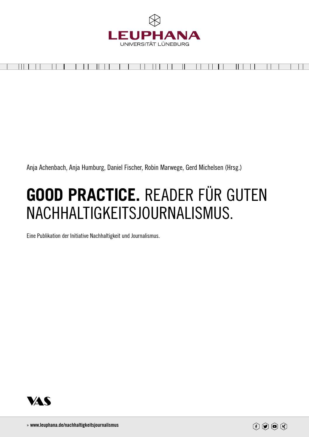 Good Practice Reader Für Guten Nachhaltigkeitsjournalismus