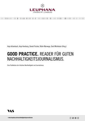 GOOD PRACTICE. READER für guten Nachhaltigkeitsjournalismus. by ...