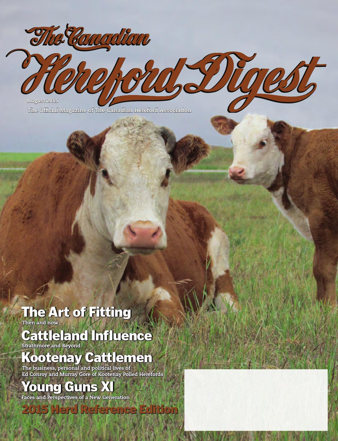 foto de August 2015 - Herd Reference Edition by Canadian Hereford ...