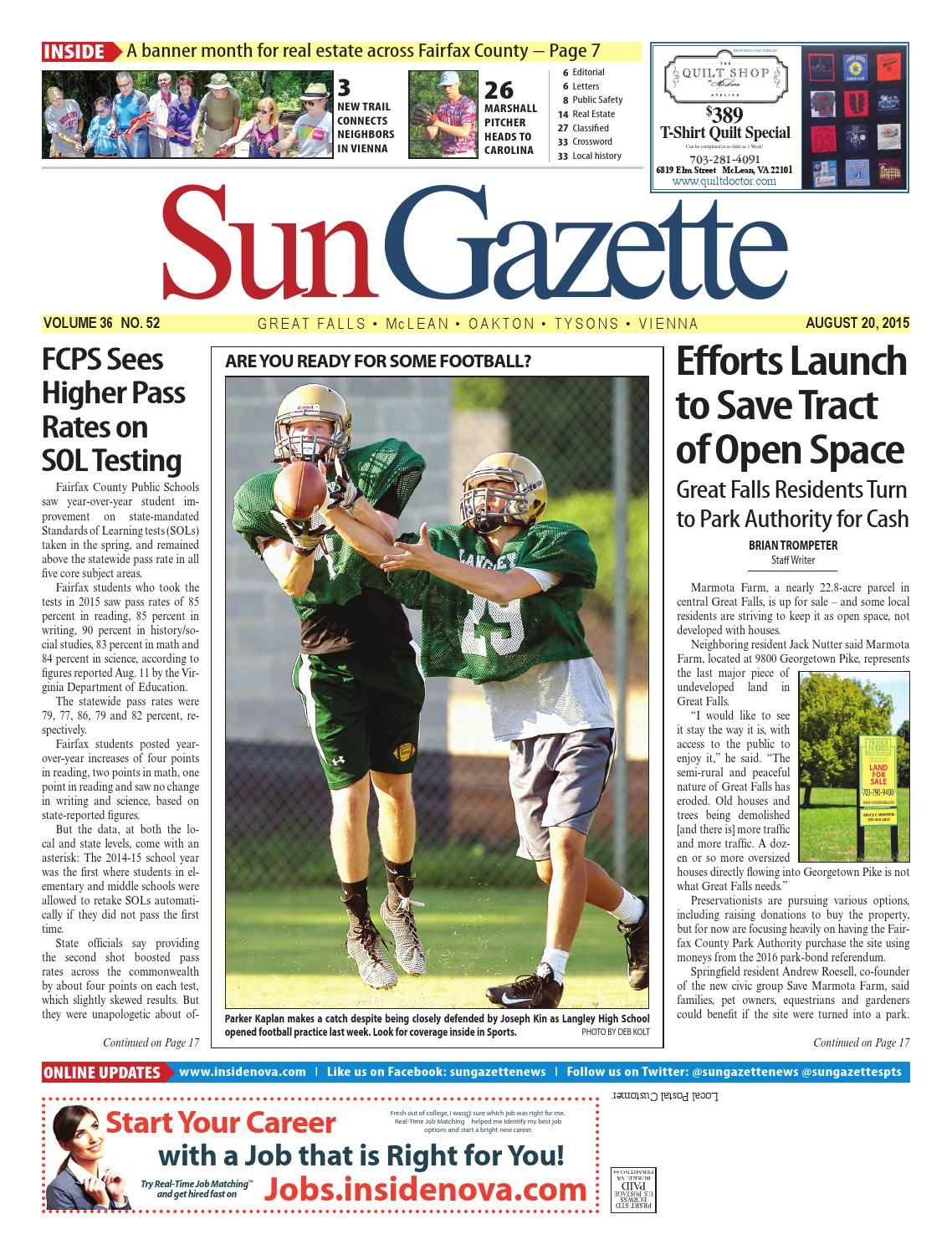 Sun Gazette Fairfax August 20, 2015 by Northern Virginia Media Services -  issuu