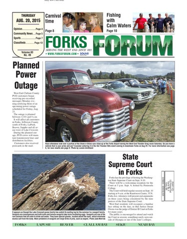 Forks Forum, August 20, 2015 by Sound Publishing - issuu