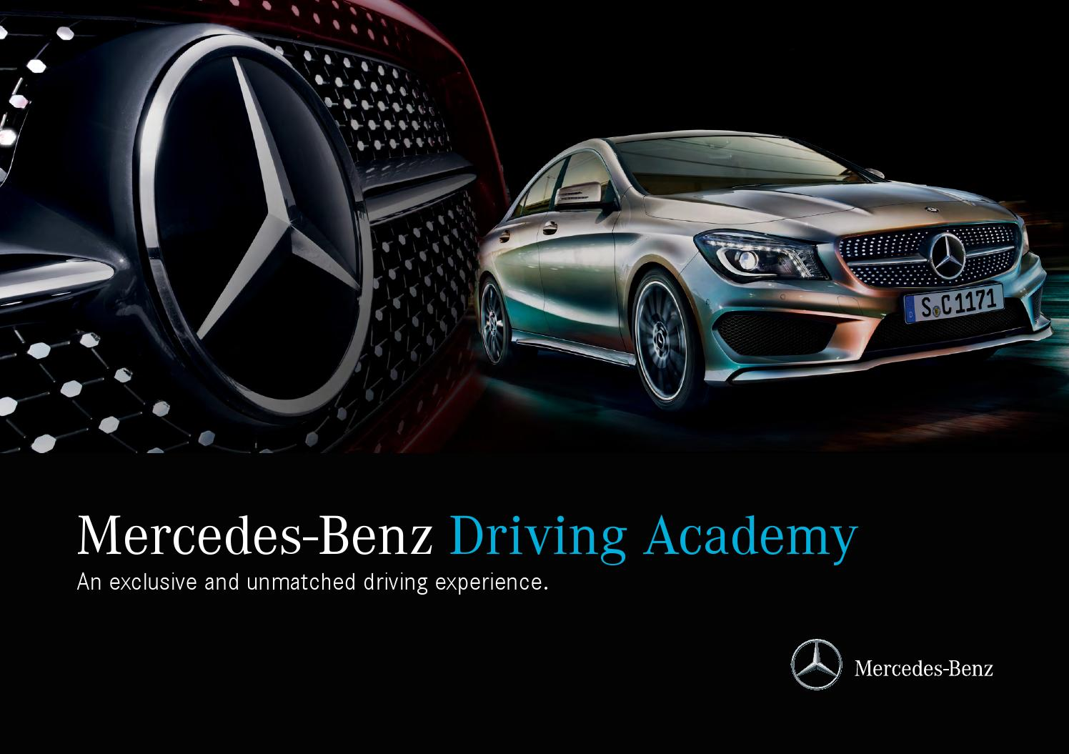 Mercedes benz driving academy by mercedes benz canada issuu for Mercedes benz academy