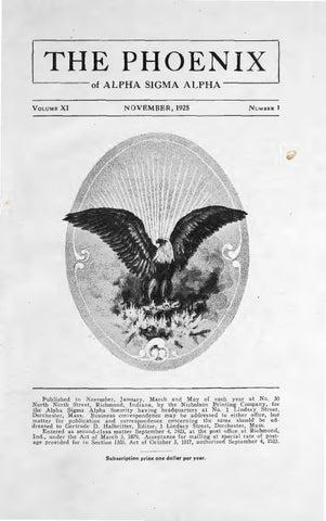 c154fb2224522 Asa phoenix vol 11 no 1 nov 1925 by Alpha Sigma Alpha Sorority - issuu
