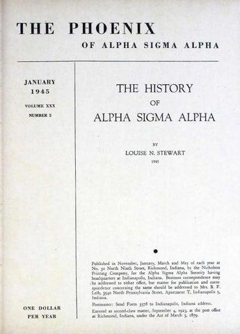 41ed220a5 Asa phoenix vol 30 no 2 jan 1945 by Alpha Sigma Alpha Sorority - issuu